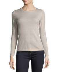 Neiman Marcus Cashmere Collection Modern Superfine Cashmere Crewneck Sweater