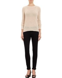 Barneys New York Cashmere Knit Sweater Nude