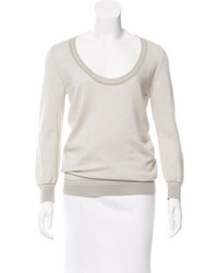 Loro Piana Cashmere Scoop Neck Top