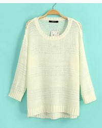 ChicNova Pure Color Pullover Sweater