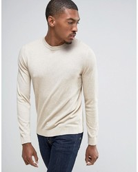 Asos Cotton Sweater In Oatmeal