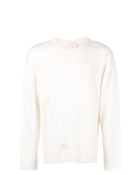Helmut Lang Distressed Fitted Sweater