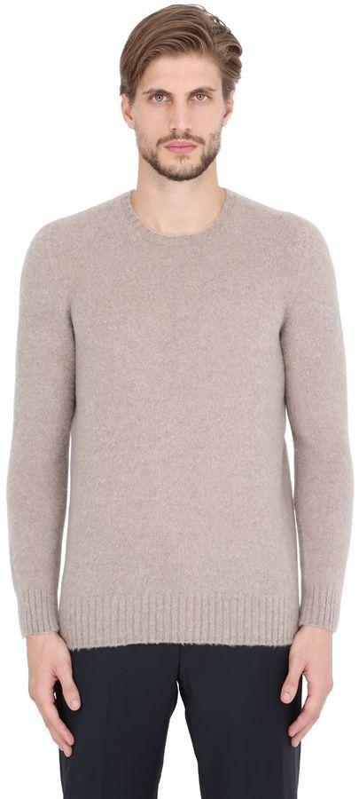 f76963afbeb550 Drumohr Brushed Lambswool Sweater, $302 | LUISAVIAROMA | Lookastic.com