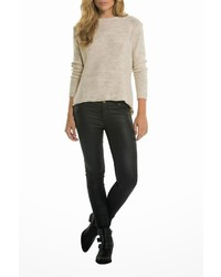 Elan Lace Hi Low Sweater