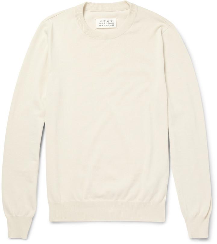 elbow patch knitted jumper - White Maison Martin Margiela Sale Best Sale ddBZ5Rcqhp