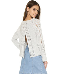 Free People Cross Cable Pullover