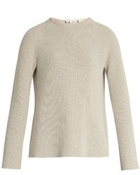 Helmut Lang Buckle Back Crew Neck Sweater