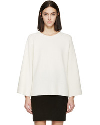Helmut Lang Cream Wool Cashmere Sweater