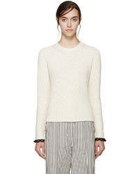 3.1 Phillip Lim Ivory Flared Knit Sweater
