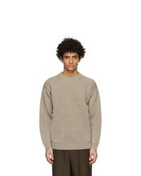 Auralee Khaki Hemp Big Sweater