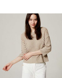 LOFT Mixed Pointelle Sweater