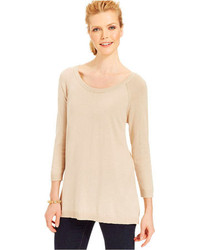 August Silk Long Sleeve Scoop Neck Sweater