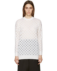 McQ by Alexander McQueen Mcq Alexander Mcqueen Ivory Perforated Sweater