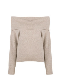 Off the shoulder knitted sweater medium 8444382