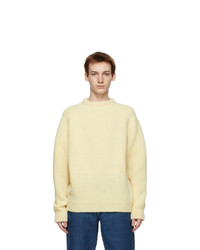 Our Legacy Off White Heavy Chunk Sweater