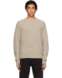 rag & bone Off White Merino Wool Undyed Sweater