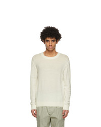 Jil Sander Off White Virgin Wool Sweater