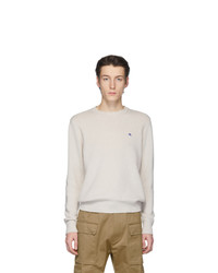 Etro Off White Wool Crewneck Sweater