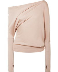 Tom Ford One Shoulder Cashmere And Silk Blend Sweater