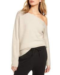 Treasure & Bond One Shoulder Ribbed Sweater