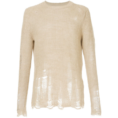 Song For The Mute Oversized Distressed Knit Sweater