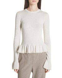 See by Chloe Peplum Wool Sweater