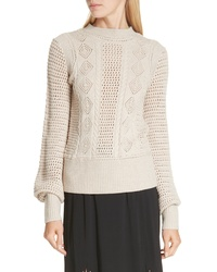 See by Chloe Pointelle Knit Sweater