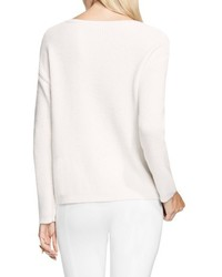 Vince Camuto Pointelle Yoke Sweater