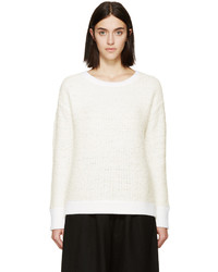 Rag & Bone Ivory Shearling Corrine Sweater