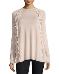 RED Valentino Redvalentino Sweater W Silky Ruffle Detail
