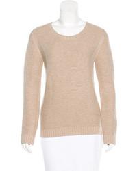 Maje Rib Knit Scoop Neck Sweater