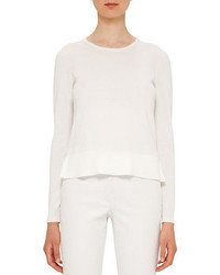 Akris Punto Ruffled Hem Cotton Sweater