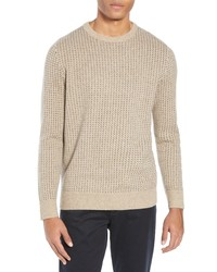 J.Crew Rugged Birds Eye Merino Wool Blend Sweater
