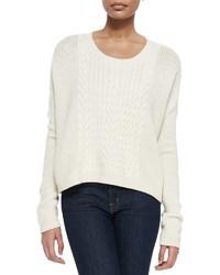 Alice + Olivia Scoop Neck Open Weave Sweater