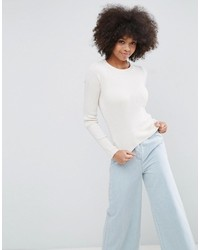Asos Sweater With Crew Neck In Rib