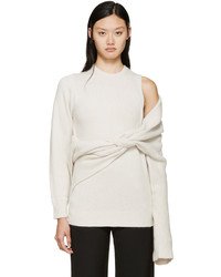 Toga Beige Superimposed Knit Sweater
