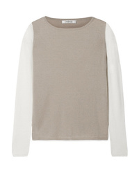 Max Mara Two Tone Silk And Cashmere Blend Sweater
