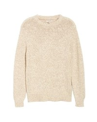 J.Crew Wallace Crewneck Marled Cotton Sweater