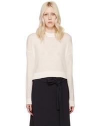 Acne Studios White Alpaca Ryssa Sweater