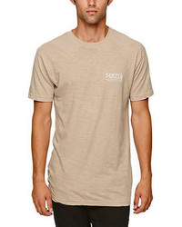 Beige Crew-neck T-shirt