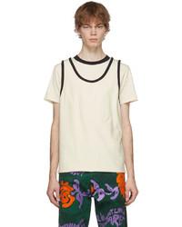 Marni Beige Black Convertible Contrast T Shirt