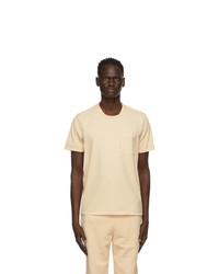 Les Tien Beige Classic Pocket T Shirt