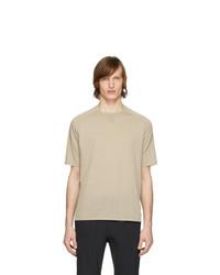 Z Zegna Beige Knit T Shirt