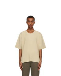 Homme Plissé Issey Miyake Beige Monthly Colors September T Shirt