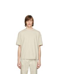 Deveaux New York Beige Oversized T Shirt