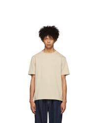 Kuro Beige Paralleled Yarn T Shirt