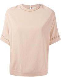 Brunello Cucinelli Embellished Trim T Shirt Blouse