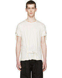 J.W.Anderson Cream D Ring Strap T Shirt