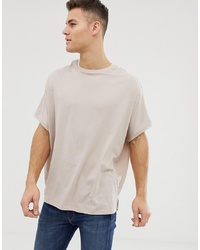 ASOS DESIGN Extreme Oversized T Shirt In Beige