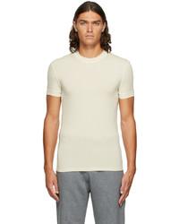Ermenegildo Zegna Off White Crewneck T Shirt
